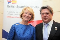Esperanza Aguirre and Spanish Ambassador to the UK, H.E. Federico Trillo