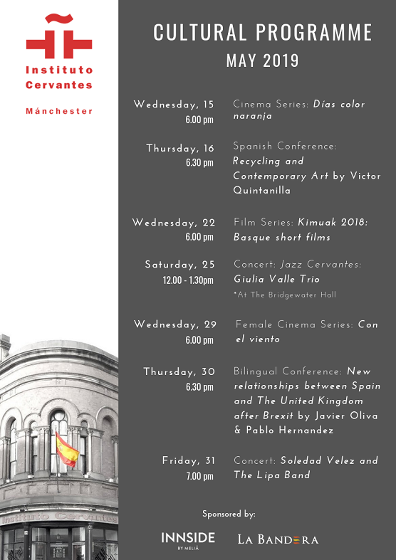 Instituto Cervantes Manchester: Cultural Programme May 2019