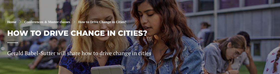How to Drive Change in Cities