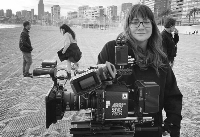 Isabel Coixet. Shooting Nieva en Benidorm. Photo: property of the director